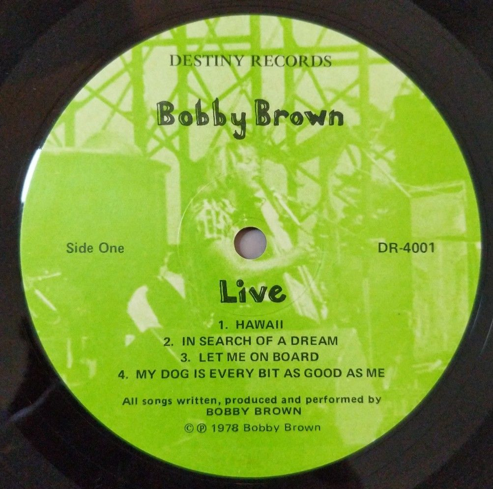 BOBBY-BROWN-Live-Vinyl-Lp-Record-1978-USA-Pressing-282964580071-3