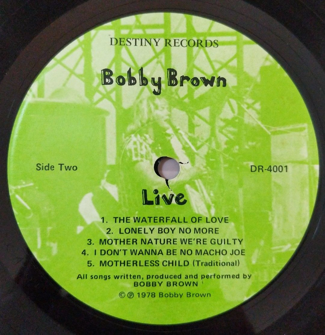 BOBBY-BROWN-Live-Vinyl-Lp-Record-1978-USA-Pressing-282964580071-4