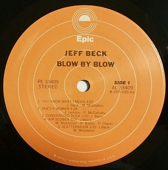 JEFF-BECK-Blow-By-Blow-Vinyl-Lp-Record-1975-1st-USA-Pressing-on-Epic-Label-282351974023-3