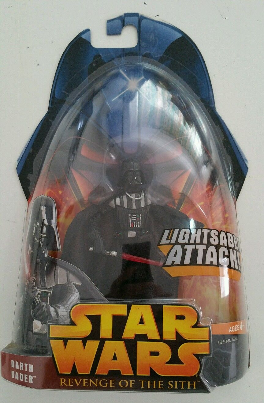 Star Wars Darth Vader Rots Sith Revenge Action Figure 2005 Sealed 11 Record Shed