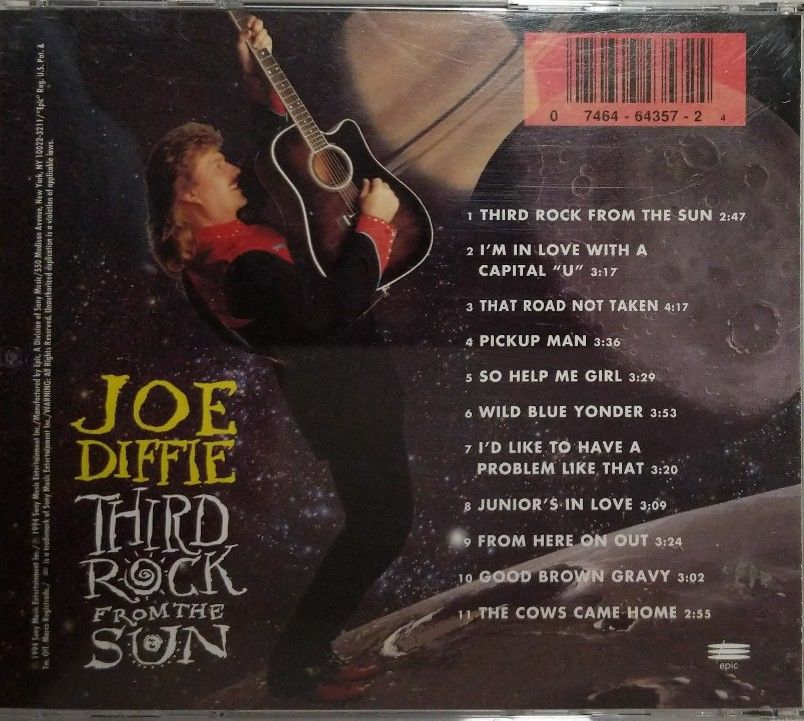 JOE-DIFFIE-Third-Rock-From-The-Sun-CD-Made-In-The-USA-1994-273133819846-2